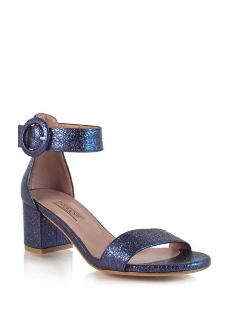 sandalo in tessuto drappeggiato blue ALBANO | Sandali | 3938BLUE