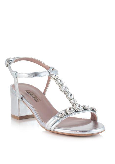 sandalo argento a T ALBANO | Sandali | 4008ARGENTO