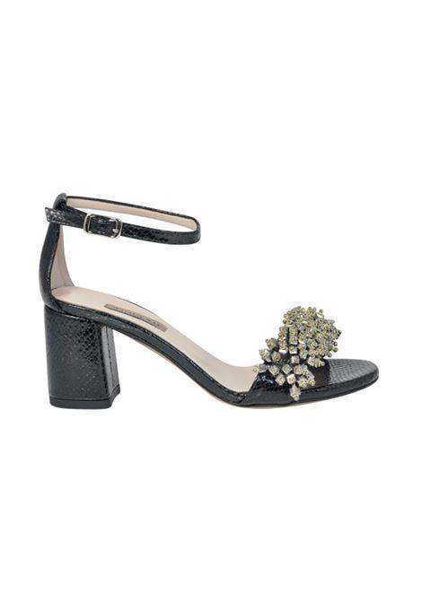 Sandalo nero ALBANO | Sandali | 2042PITONENERO