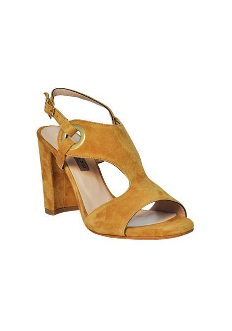 Sandalo camoscio cuoio ALBANO | Sandali | 2096CAMOSCIOSELLA
