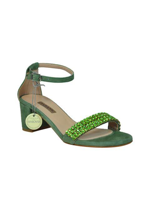 Sandalo camoscio verde ALBANO | Sandali | 2113CAMOSCIOVERDEACQUA