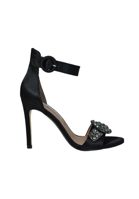 Sandalo in raso nero ALBANO | Sandali | 2126RASONERO