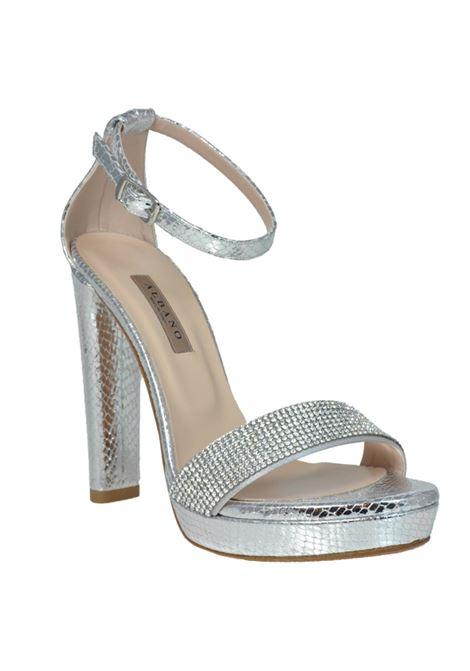 Sandalo argento con strass ALBANO | Sandali | 2132PITONEARGENTO
