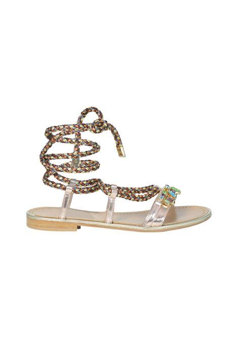 Sandalo rame con lacci ALBANO | Sandali | 2145SOFTMETALRAME