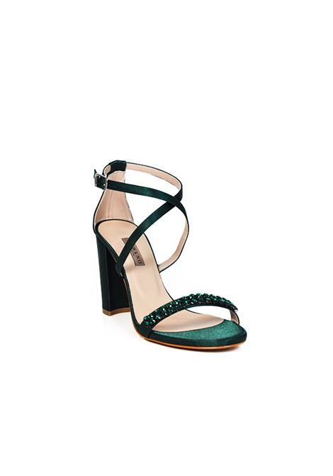 Sandalo verde con strass ALBANO | Sandali | 2159RASOVERDEBANDIERA