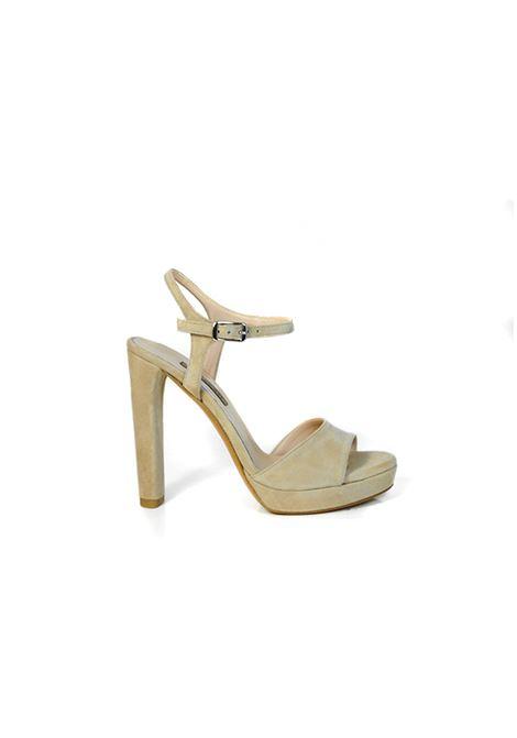 Sandalo camoscio beige ALBANO | Sandali | 2176CAMOSCIOPHARD