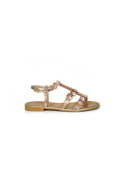 Sandalo caprese rame con strass ALBANO | Sandali | 2179PITONERAME