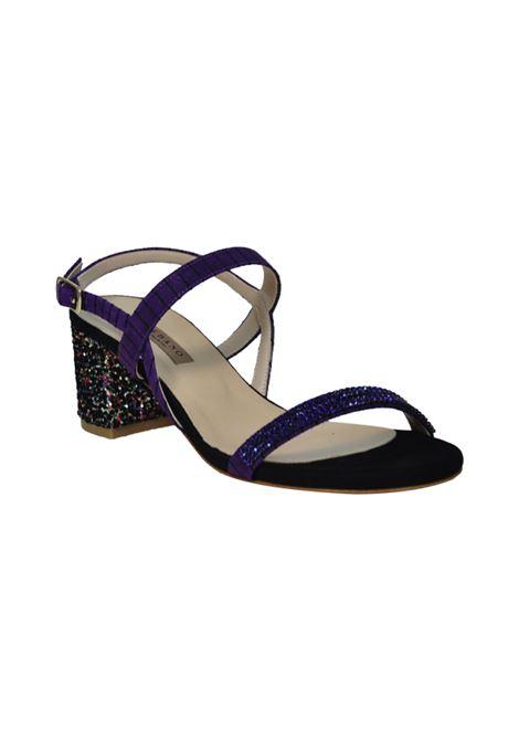 Sandalo viola con tacco glitter ALBANO | Sandali | 2181CACAMOSCIOVIOLA