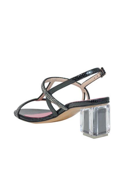 Sandalo nero con strass ALBANO | Sandali | 2181PITONENERO