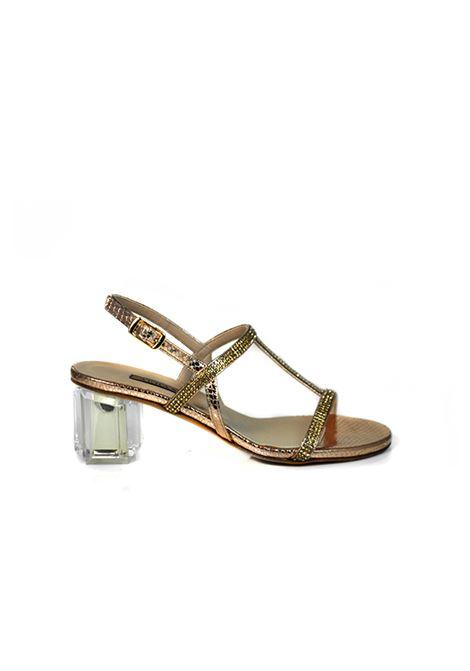 Sandalo con strass rame ALBANO | Sandali | 2181PITONERAME