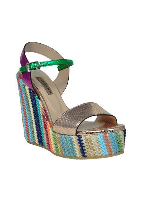 Sandalo con zeppa multicolor ALBANO | Sandali | 2185PITONERAME