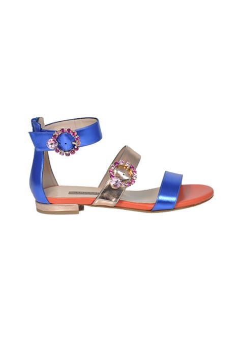 Sandalo multicolor ALBANO | Sandali | 2186SOFTMETALBLUETTE