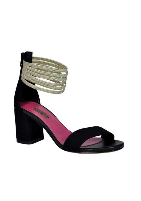 Sandalo oro e nero ALBANO | Sandali | 2194VELOURNERO