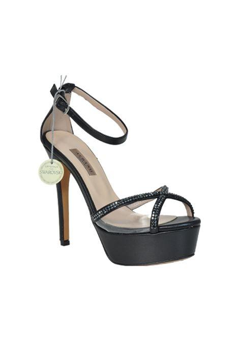 Sandalo nero con swarovski ALBANO | Sandali | 2198SOFTNERO