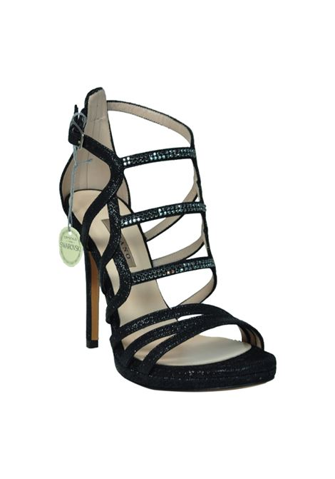 Sandalo glitter nero con swarovski ALBANO | Sandali | 2274NIGHTNERO
