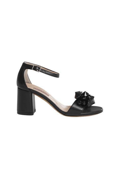 Sandalo nero con accessorio ALBANO | Sandali | 4016SOFTNERO
