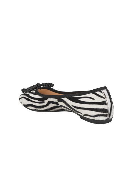 Ballerina zebrata ALBANO | Ballerine | 4065ZEBRA/NERO