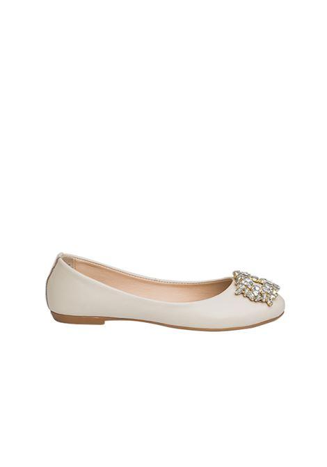 Ballerina beige con accessorio ALBANO | Ballerine | 4071BEIGE