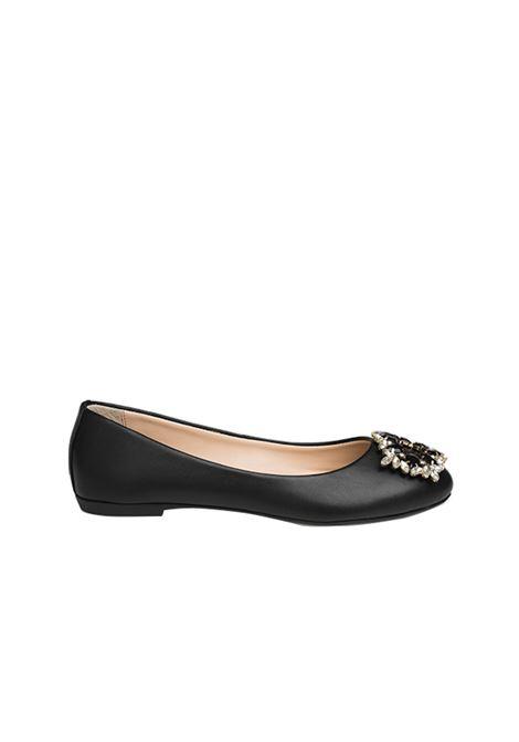 Ballerina nera con accessorio ALBANO | Ballerine | 4071NAPPANERA