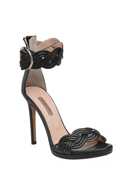 Sandalo nero intrecciato ALBANO | Sandali | 4114SOFTNERO