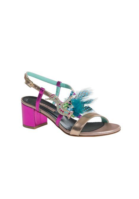 Sandalo con accessorio ALBANO | Sandali | 4216METALRAME/FUXIA
