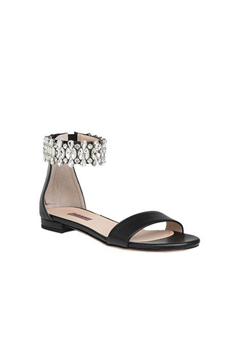 Sandalo nero con accessorio ALBANO | Sandali | 4238SOFTNERO