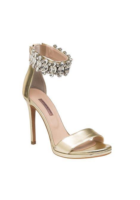 Sandalo oro con accessorio ALBANO | Sandali | 4239METALPLATINO