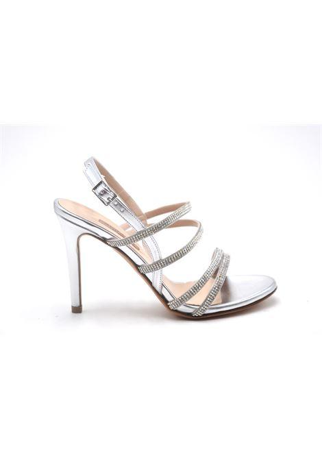 Sandalo argento con strass ALBANO | Ballerine | 4002METALARGENTO