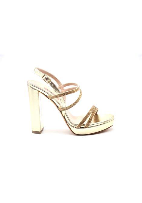 Sandalo oro con strass ALBANO | Ballerine | 4002METALPLATINO