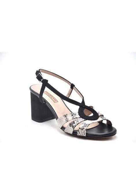 Sandalo bicolore ALBANO | Sandali | 4032VELOURNERO