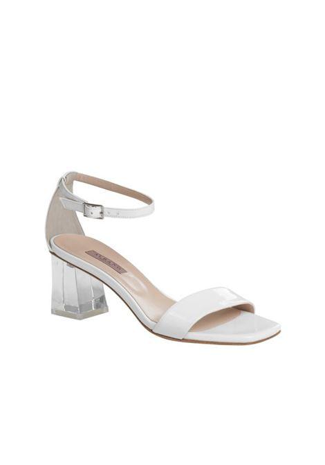 Sandalo bianco in vernice ALBANO | Sandali | 4151VERNICEBIANCA