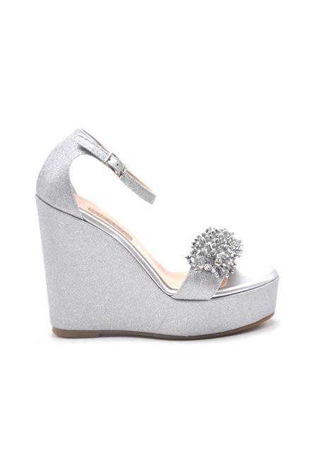 Zeppa glitter argento ALBANO | Sandali | 4160MESCHARGENTO