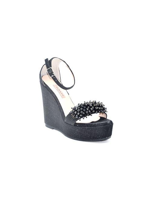 Zeppa glitterata nera ALBANO | Sandali | 4160NIGHTNERO