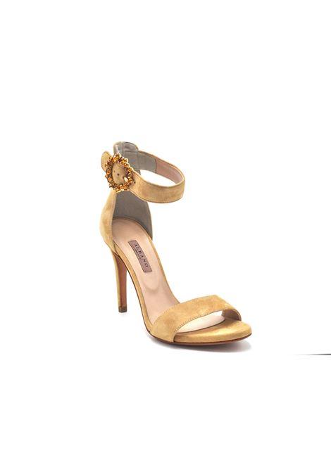 Sandalo beige con accessorio ALBANO | Sandali | 4166CAMOSCIONUDE