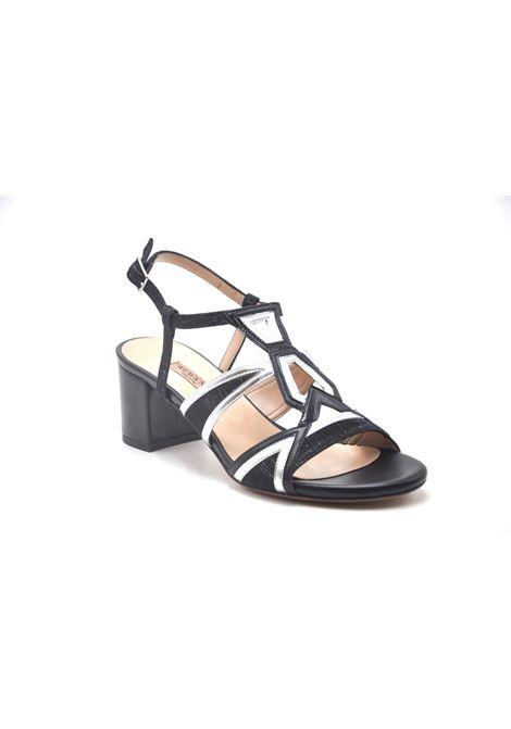 Sandalo glitter bicolore ALBANO | Sandali | 4169NIGHTNERO
