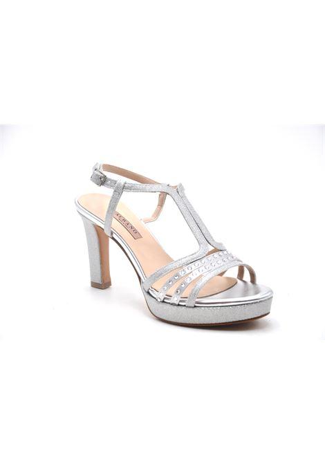 Sandalo glitter argento con strass ALBANO | Spuntati | 4240MESCHARGENTO