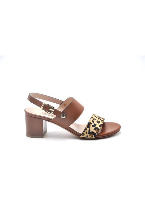 Sandalo cuoio e leopardato ALBANO | Sandali | 4248SOFTCUOIO