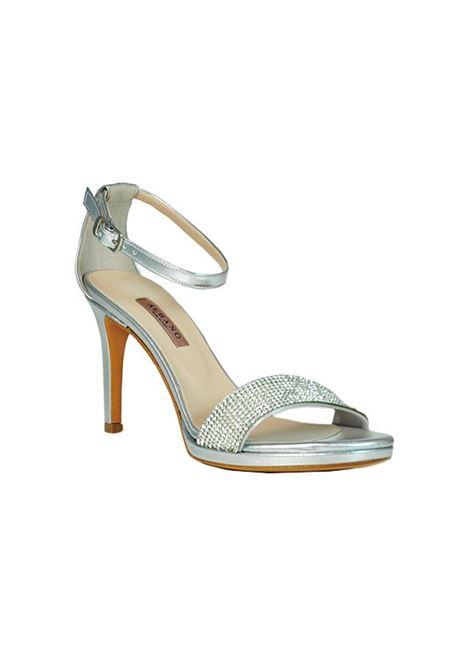 Sandalo argento con strass ALBANO | Sandali | 4282METALARGENTO