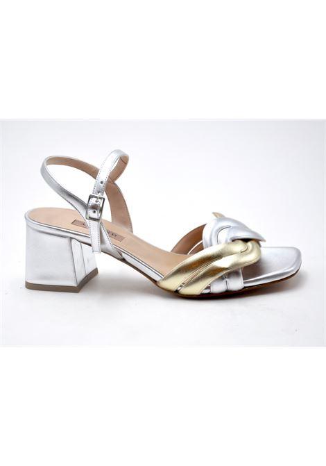 Sandalo argento e platino ALBANO | Sandali | 8109METALARGENTO
