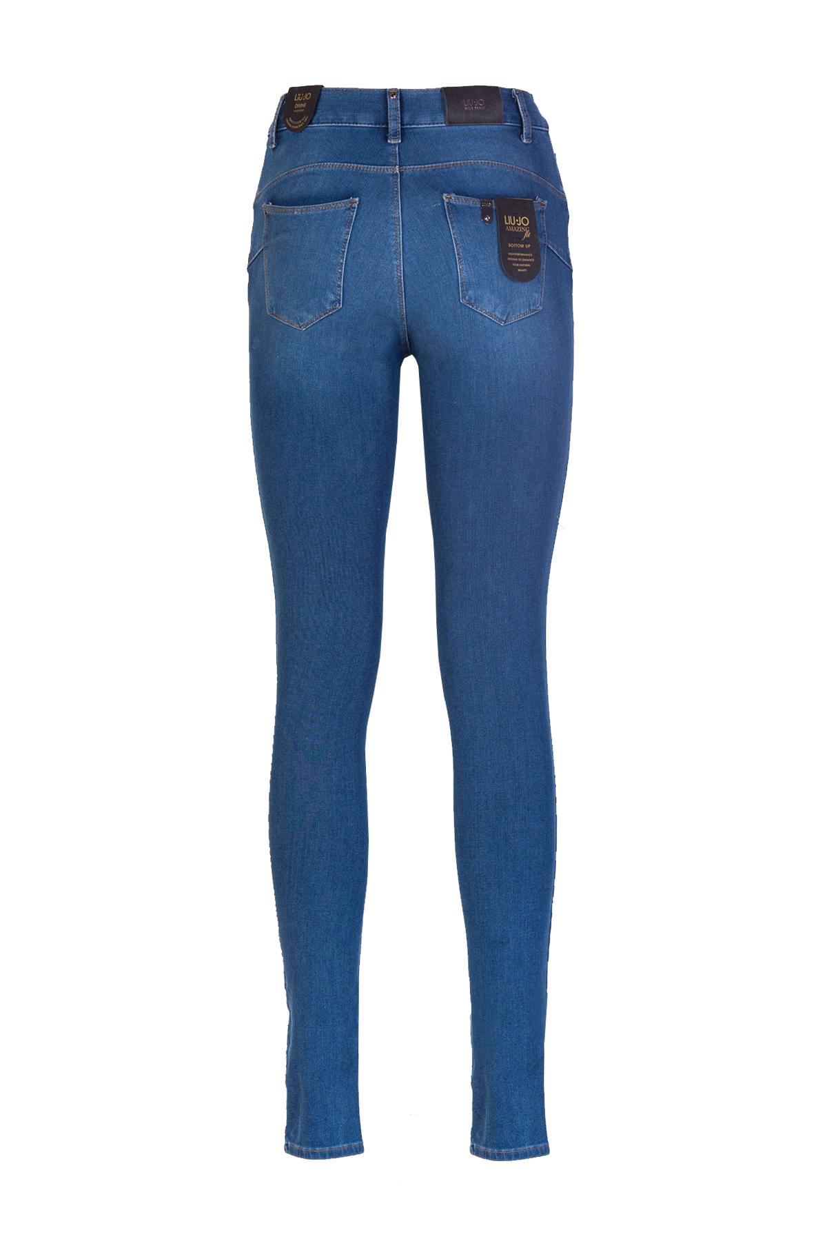 JEANS SKINNY LIU JO BLUE DENIM | Jeans | U18044D419577538DENBLZIPPER
