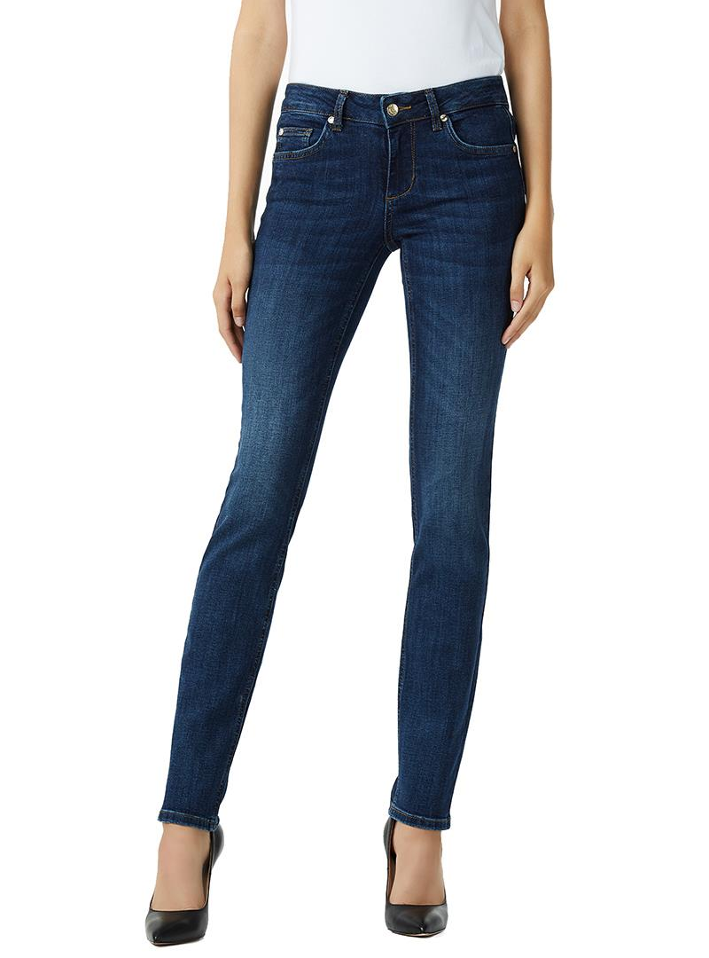 JEANS BOTTOM UP CON VITA MEDIA LIU JO BLUE DENIM | Jeans | U68016D412777411DENBLUEEVENTWASH