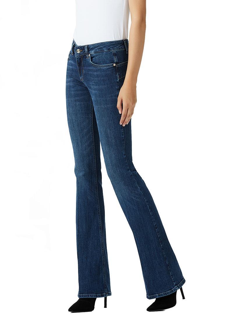 JEANS BOTTOM UP CON VITA MEDIA LIU JO BLUE DENIM | Jeans | U68019D412777411DENBLUEEVENTWASH