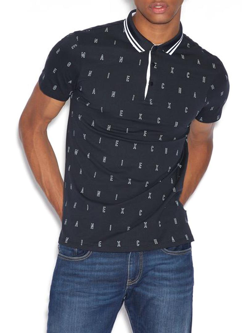 POLO NAVY AX ARMANI EXCHANGE | Polo | 3GZF93ZJH4Z6501OUTLINELOGO