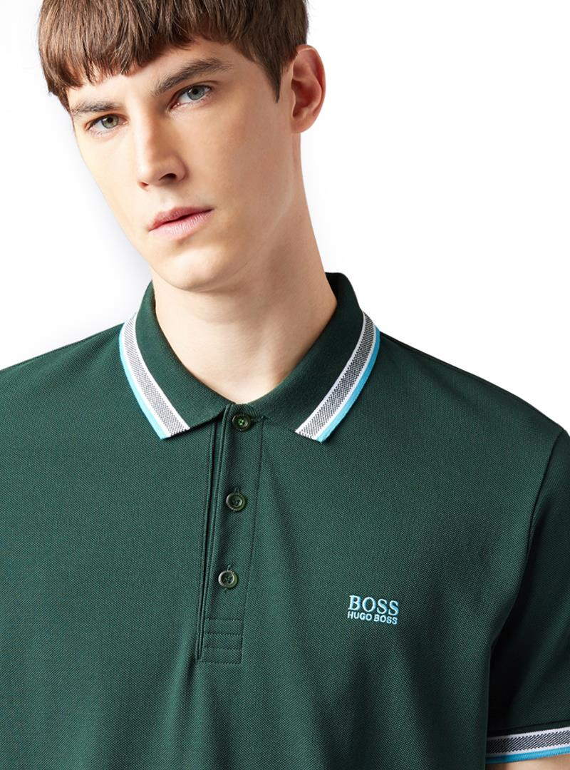 POLO CON LOGO BOSS | Maglia | 50398302PADDY356OPENGREEN