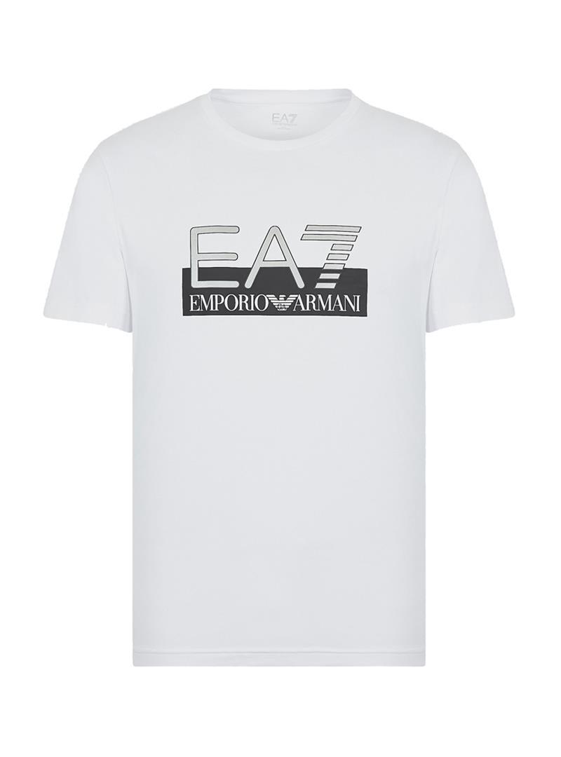 T-SHIRT IN COTONE ELASTICIZZATO E.A. 7 | T-shirt | 6GPT81PJM9Z1100WHITE