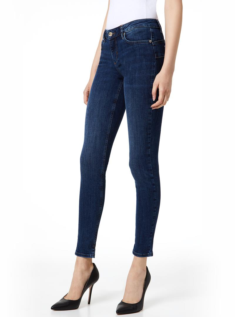 JEANS SKINNY CON SPACCHETTO LIU JO BLUE DENIM | Jeans | U69003D412777411DENBLUE