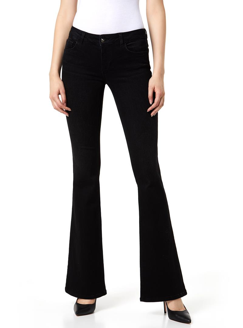 JEANS BOOTCUT CON BOTTONE GIOIELLO LIU JO BLUE DENIM | Jeans | U69020D437087204DENBLACK