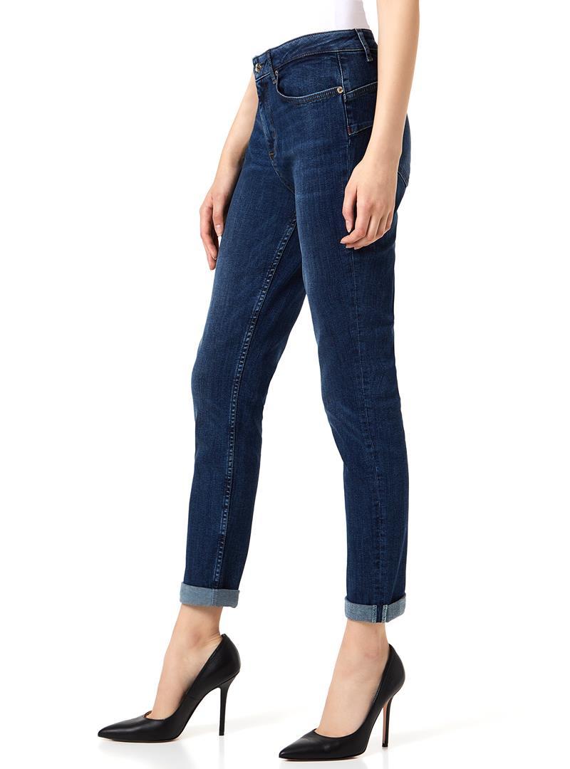 JEANS BOYFRIEND CON RISVOLTO LIU JO BLUE DENIM | Jeans | U69028D412777411DENBLUE