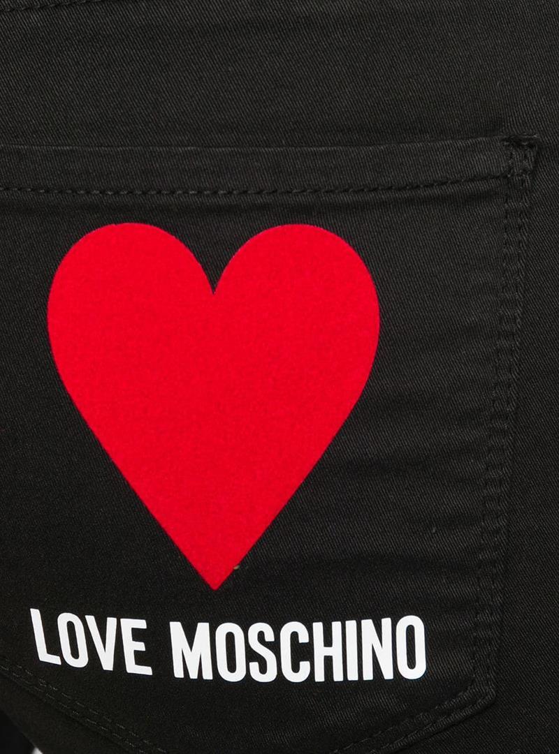 PANTALONE SKINNY FIT LOVE MOSCHINO | Pantalone | WQ38739S3300C74BLACK