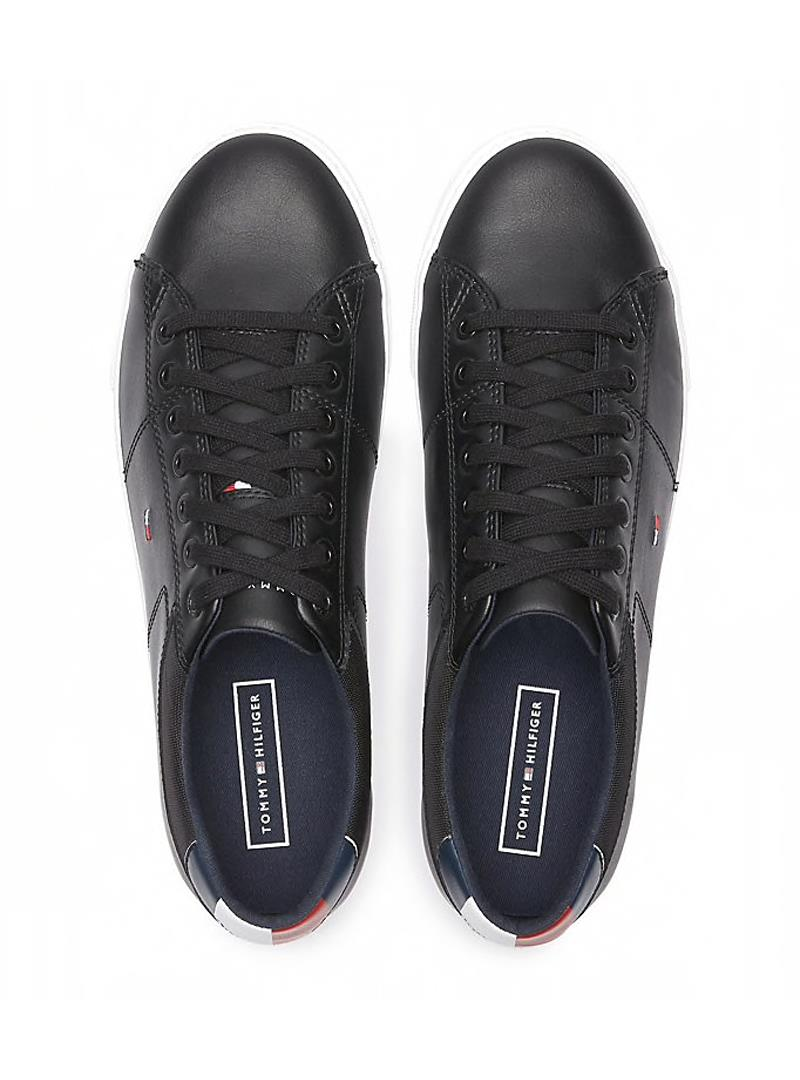 SNEAKERS ESSENTIAL IN PELLE TOMMY HILFIGER   Sneakers   FM0FM02577ESSENTIALBDSBLACK